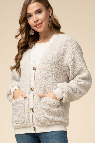 Teddy Bear Cardi - Cream