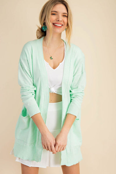 Mint Green Summer Cardigan