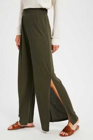 Relaxed Side Slit Pants