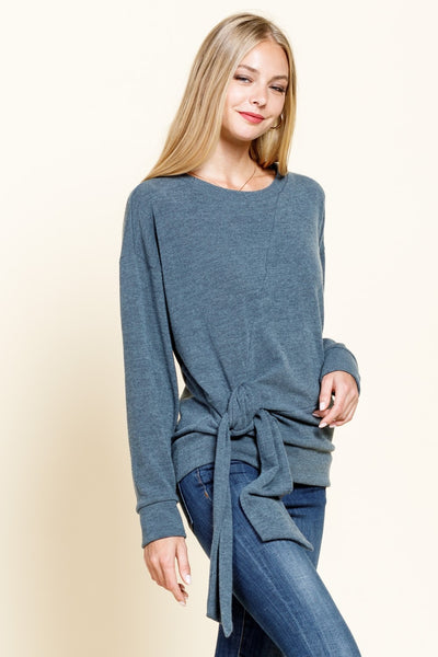 Side-Tie Sweater