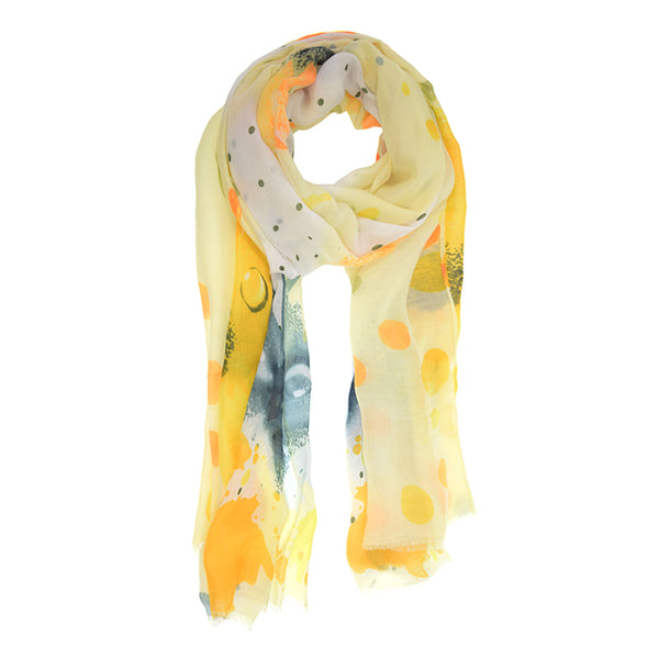 Watercolor Scarf - Yellow