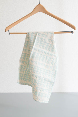 Tea Towel - Triangles in Aqua