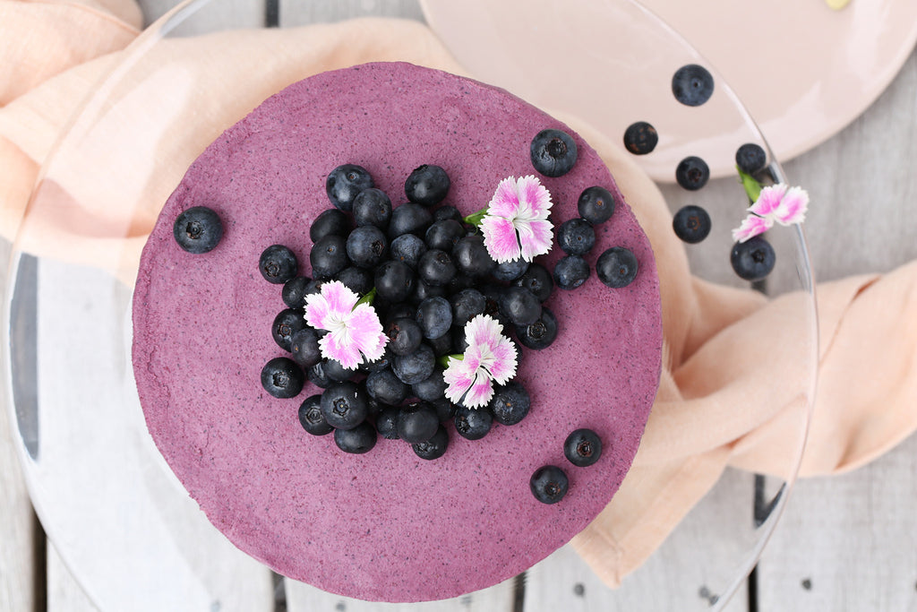 Blueberry and Beetroot Cheesecake