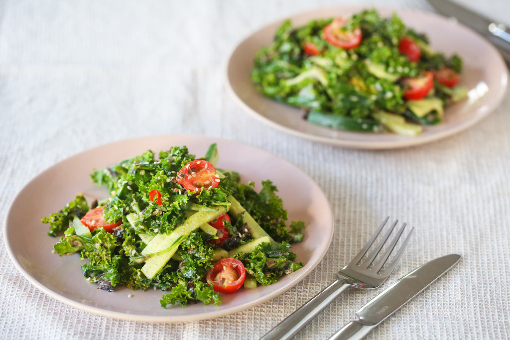 Kale, Karengo and Cucumber Salad