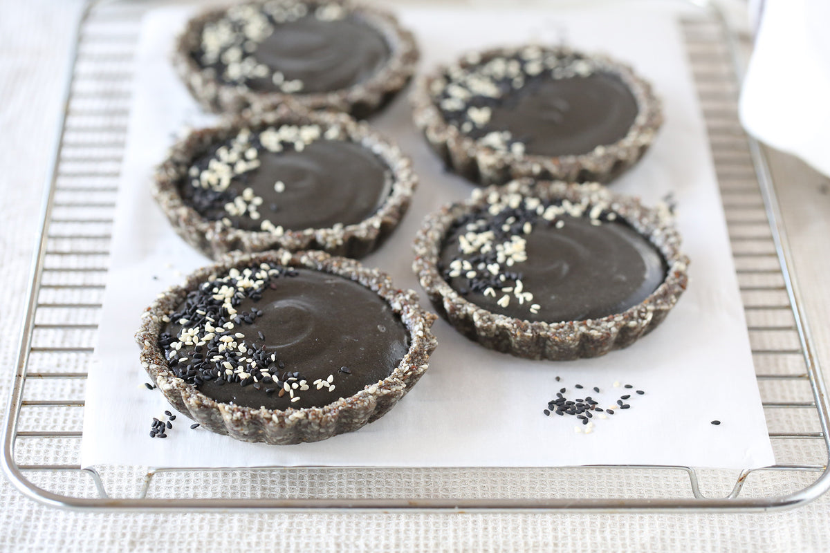 Midnight Black Sesame Tarts