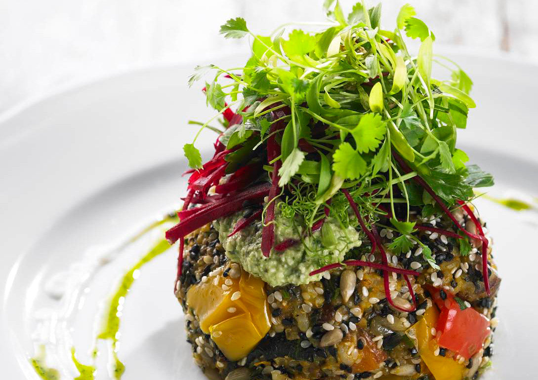 Quinoa and Roasted Vegetable Patty