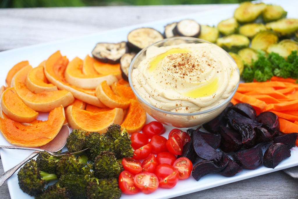 Veggie Platters with Roast Garlic Hummus