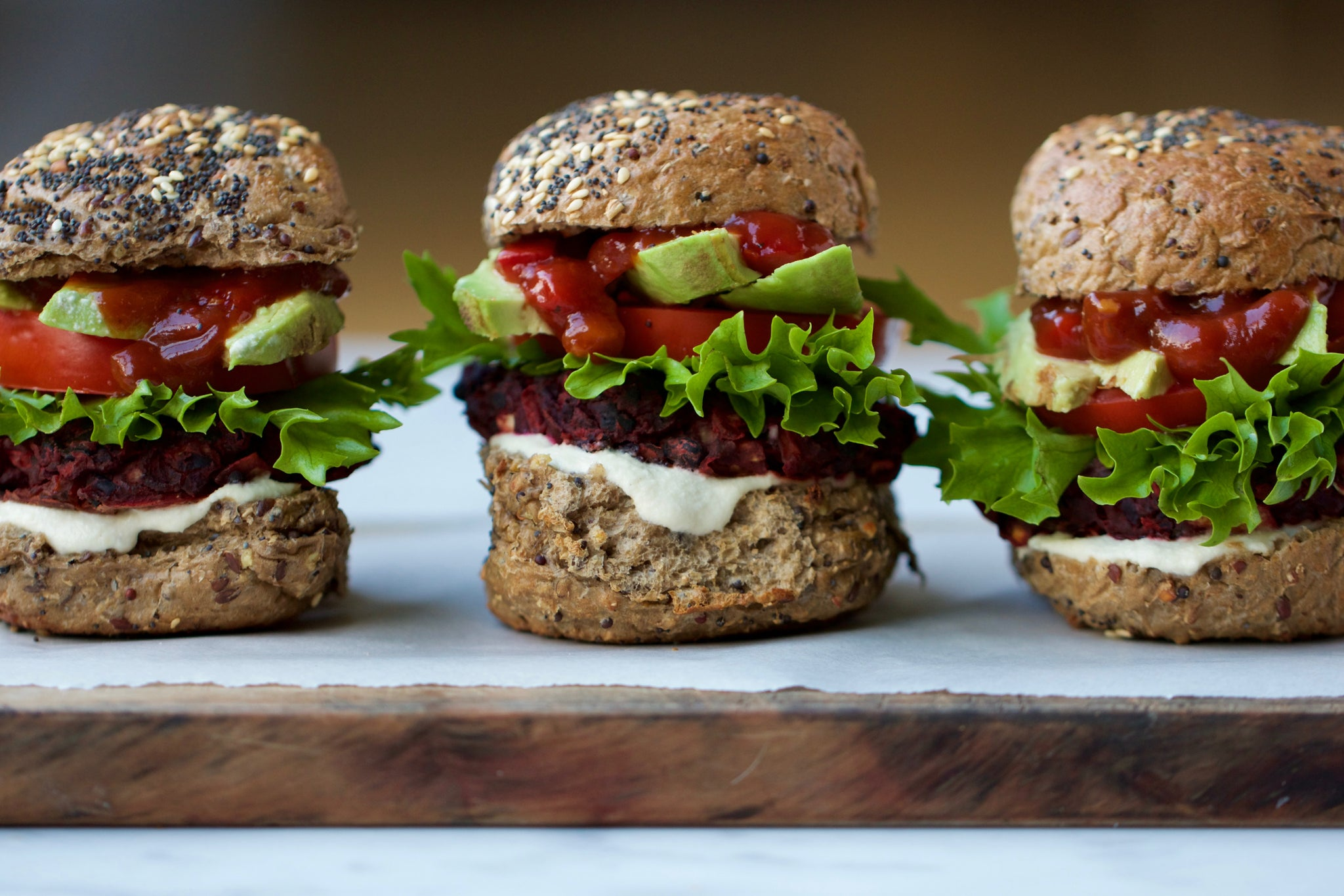 BEETROOT BASIL BLACK BEAN BURGERS - #vegan #vegetarian #dairyfree #glutenfree #eggfree #healthy #burger #recipe #begoodorganics