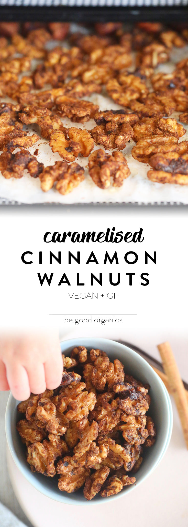 Caramelised Cinnamon Walnuts - Be Good Organics