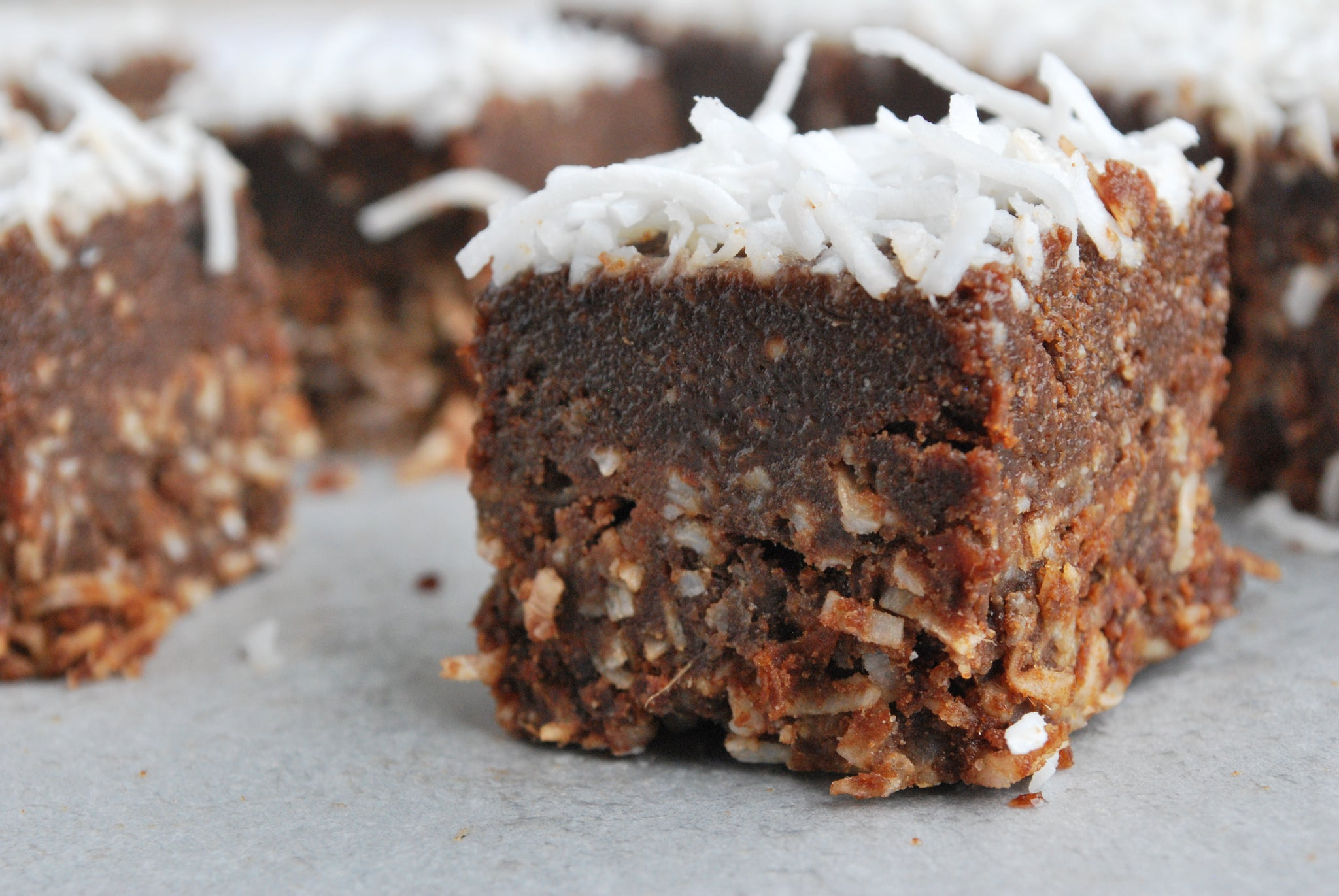 Carob Coconut Rough Slice