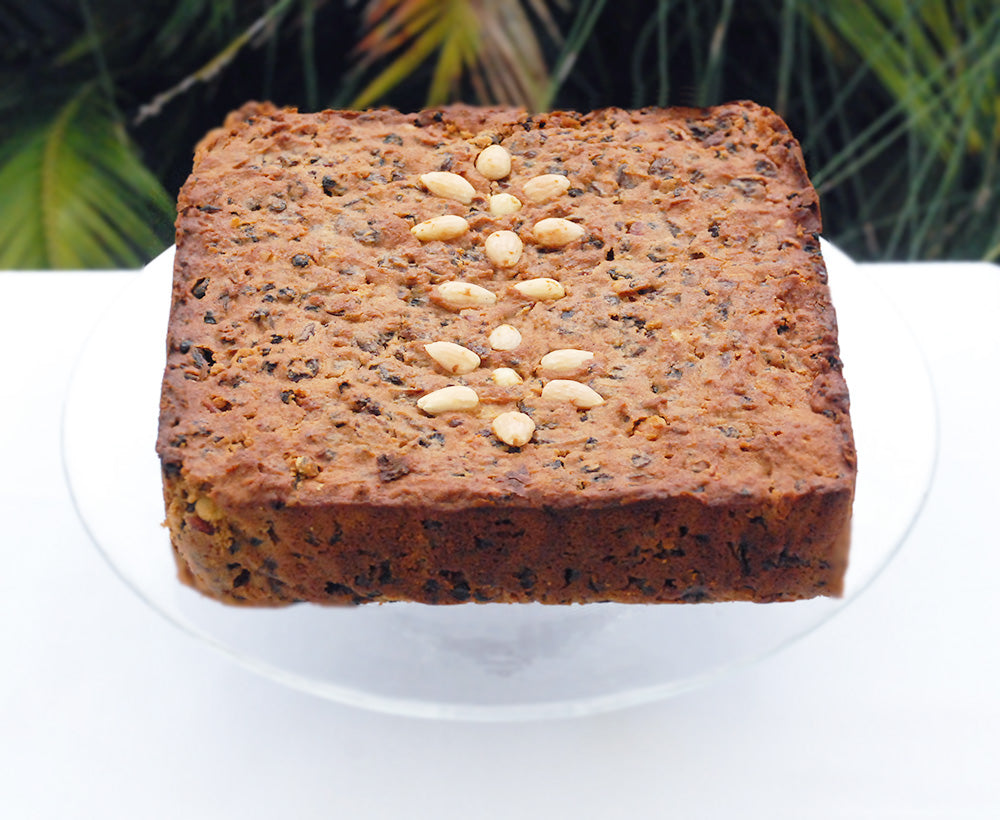 Healthy Vegan Christmas Fruit Cake
