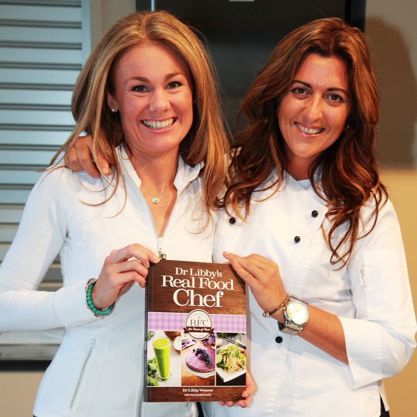 Dr Libby Weaver & Cynthia Louise with The Real Food Chef Cook Book