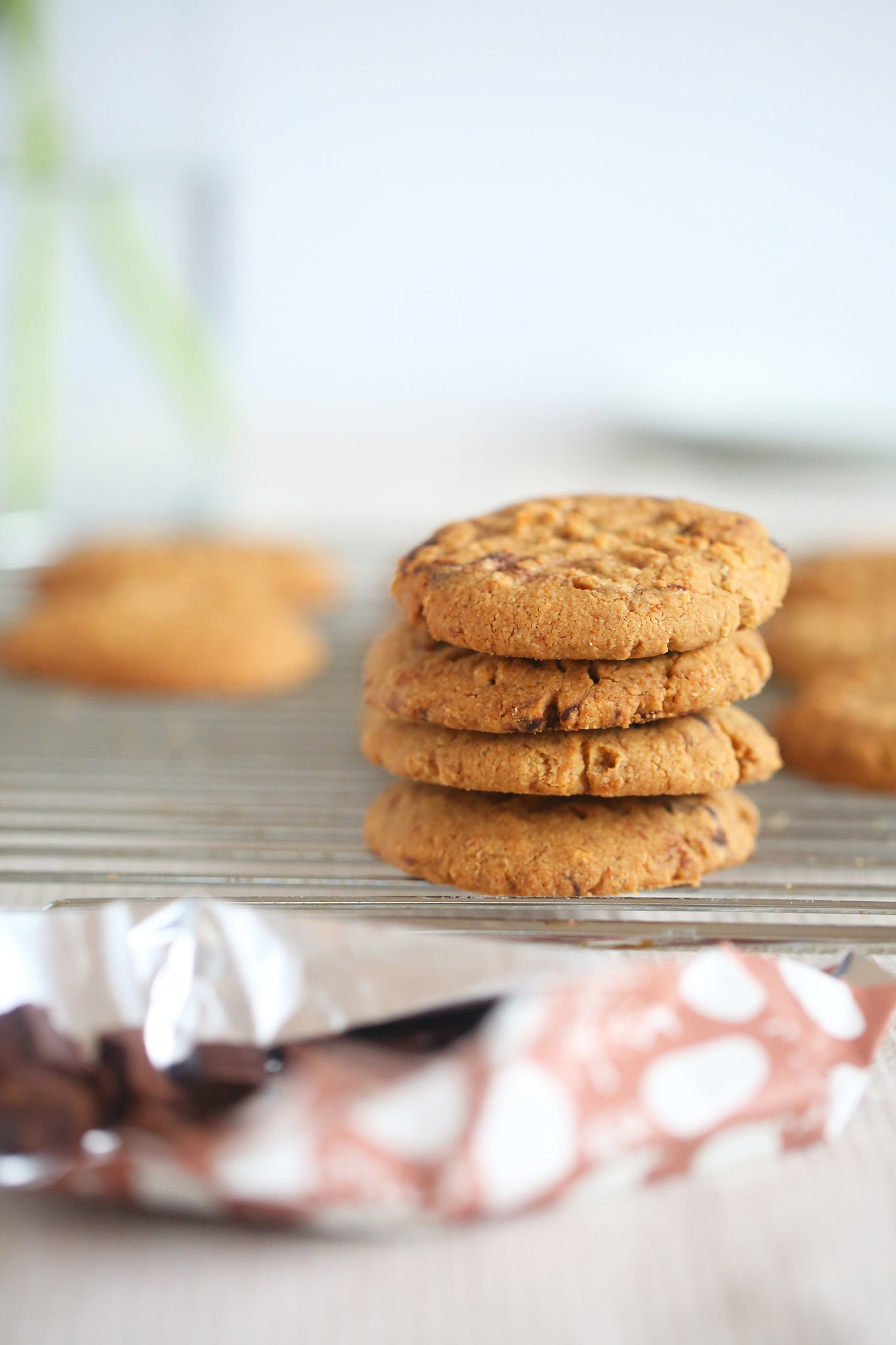 Glorious WALNUT AND CHOCOLATE CHUNK COOKIES - healthy, vegan, dairy free, low sugar, no refined sugar, wheat free, egg free, one bowl, begoodorganics 1