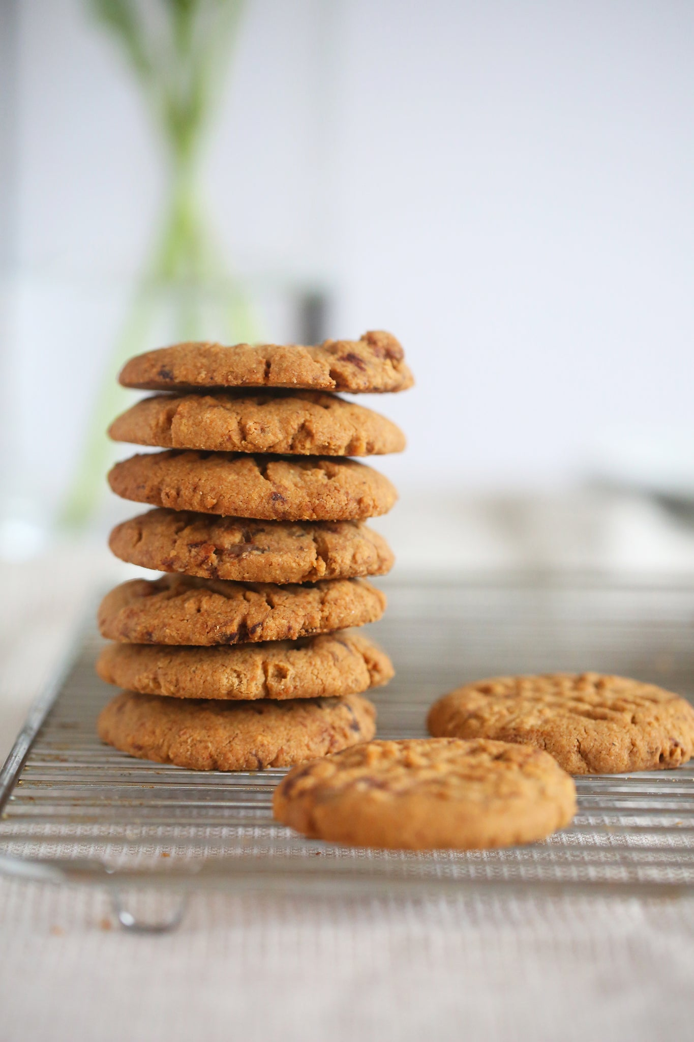 Glorious WALNUT AND CHOCOLATE CHUNK COOKIES - healthy, vegan, dairy free, low sugar, no refined sugar, wheat free, egg free, one bowl, begoodorganics