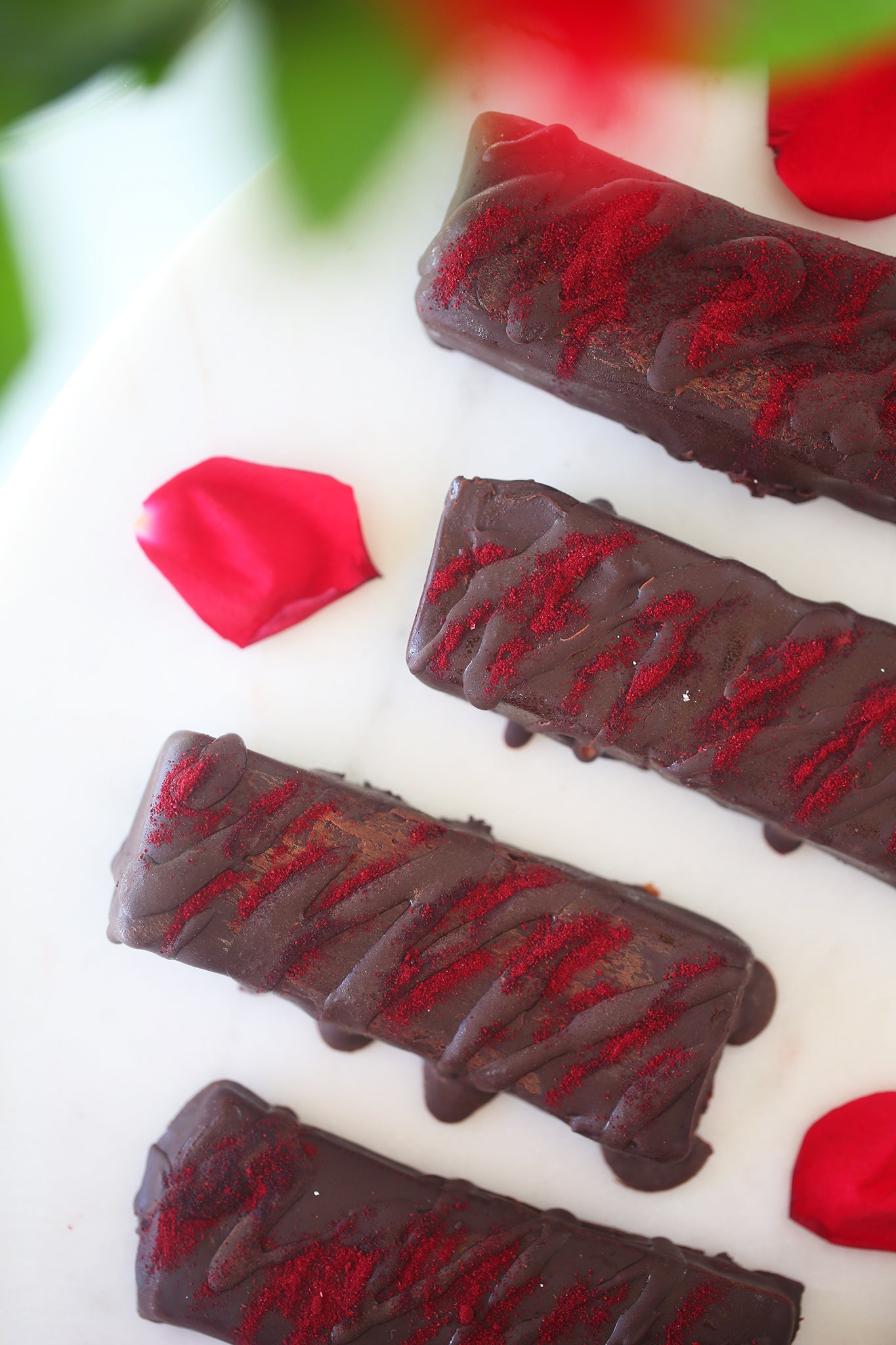 Healthy homemade TURKISH DELIGHT CHOCOLATE BARS - plant based, vegan, refined sugar free, low sugar, dairy free, gluten free, natural, beetroot