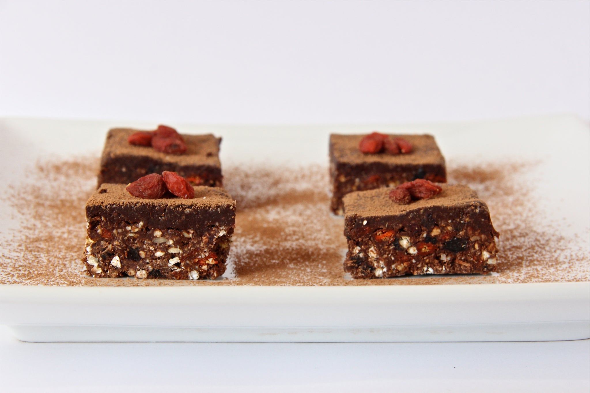 Chewy Chocolate Goji Crunch Slice