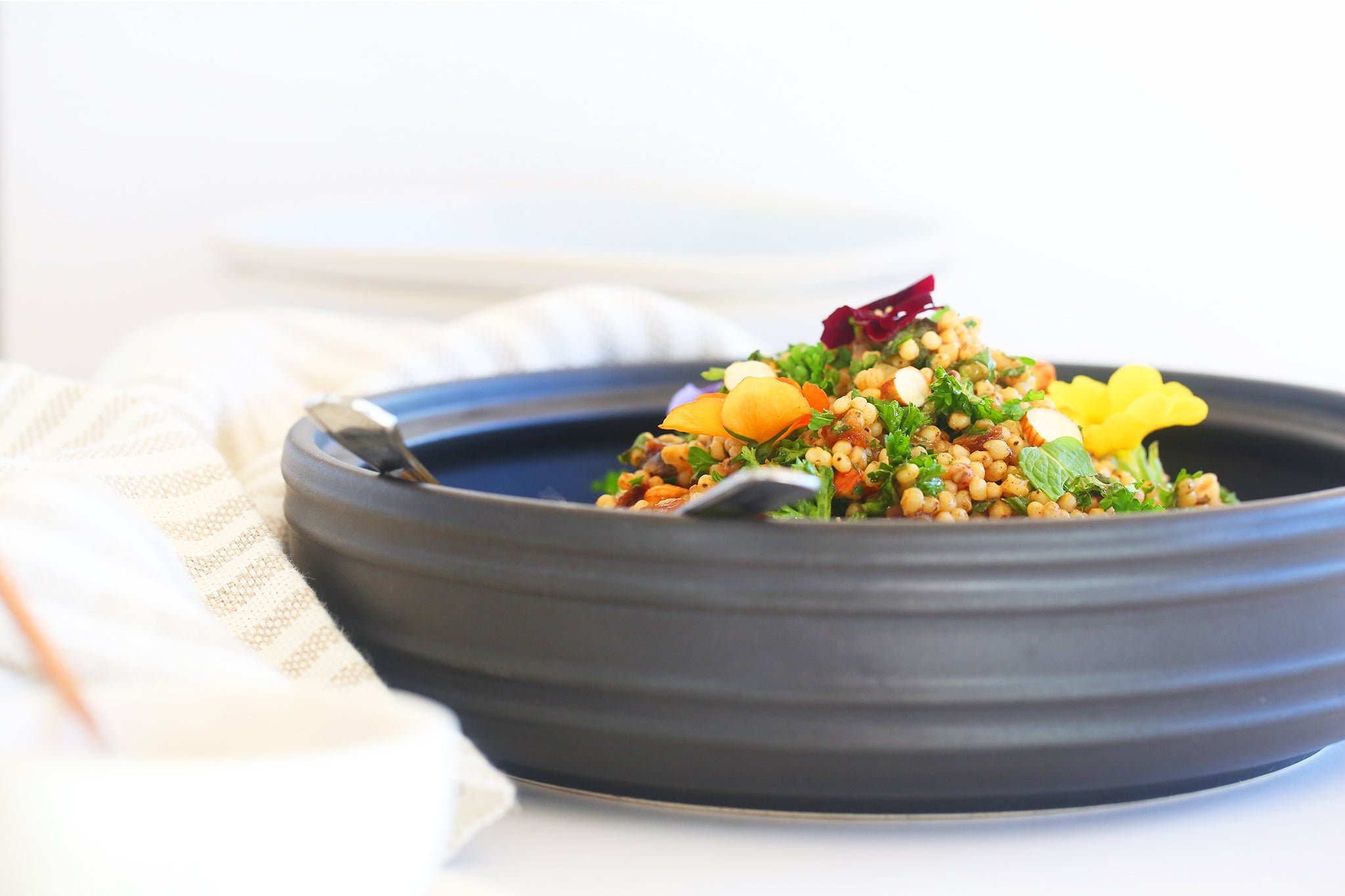 MOROCCAN SORGHUM SALAD with apricots and almonds - healthy, easy, plant based, vegan, dairy free, gluten free, refined sugar free, one bowl, spring, begoodorganics