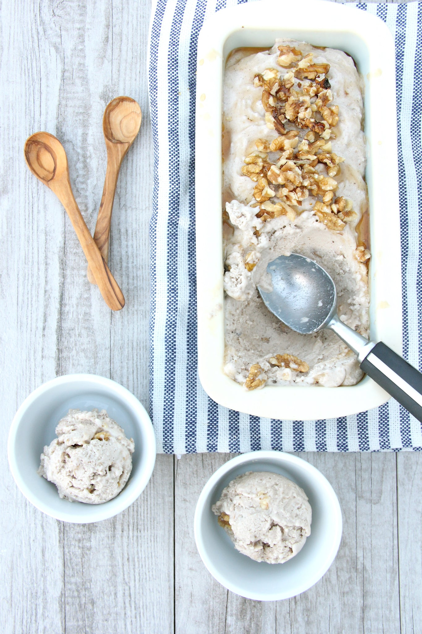 Maple Walnut Ice Cream #healthy #vegan #recipe #icecream #dessert #dairyfree #sugarfree #glutenfree #plantbased #begoodorganics
