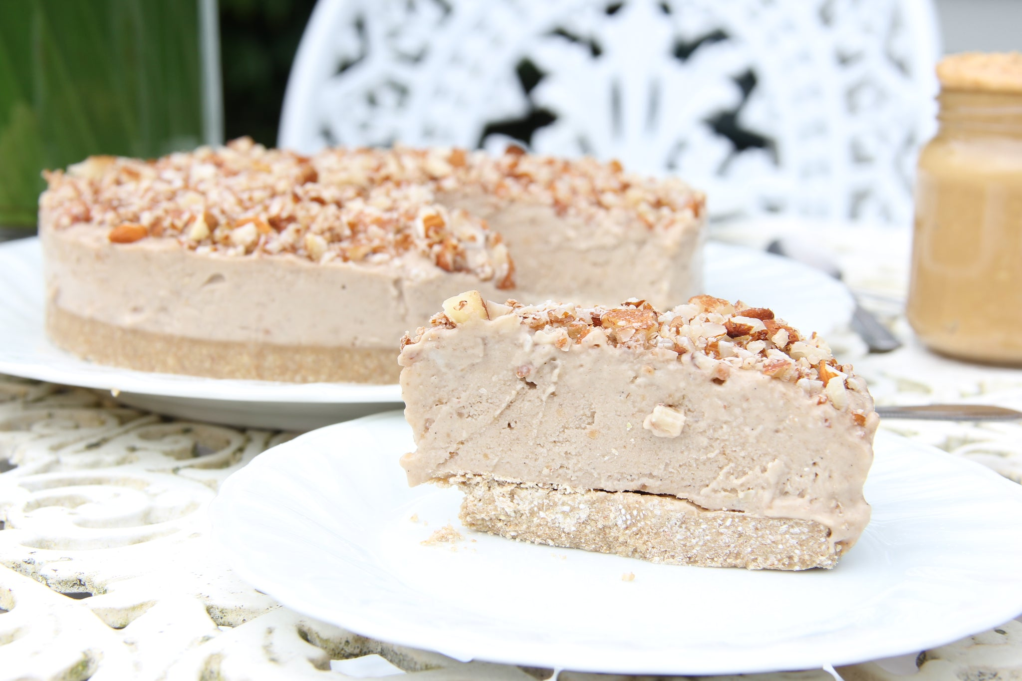 Nutty Ice Cream Cake #cake #healthy #vegan #recipe #dairyfree #sugarfree #glutenfree #plantbased