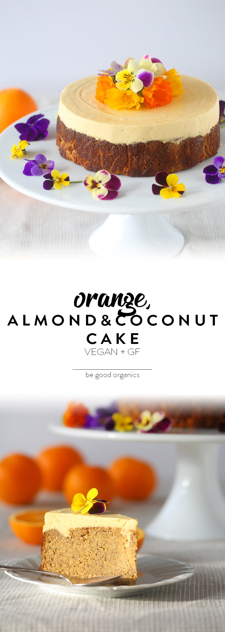 Orange, Almond & Coconut Cake - Be Good Organics