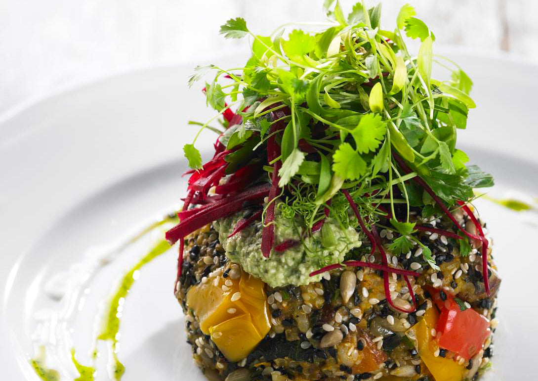 Dr Libby's Quinoa and Roasted Vegetable Patty