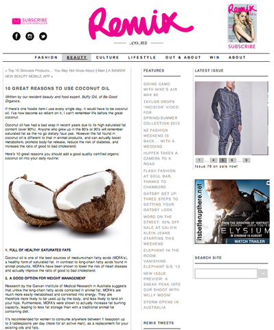 Remix Magazine Be Good Organics Article