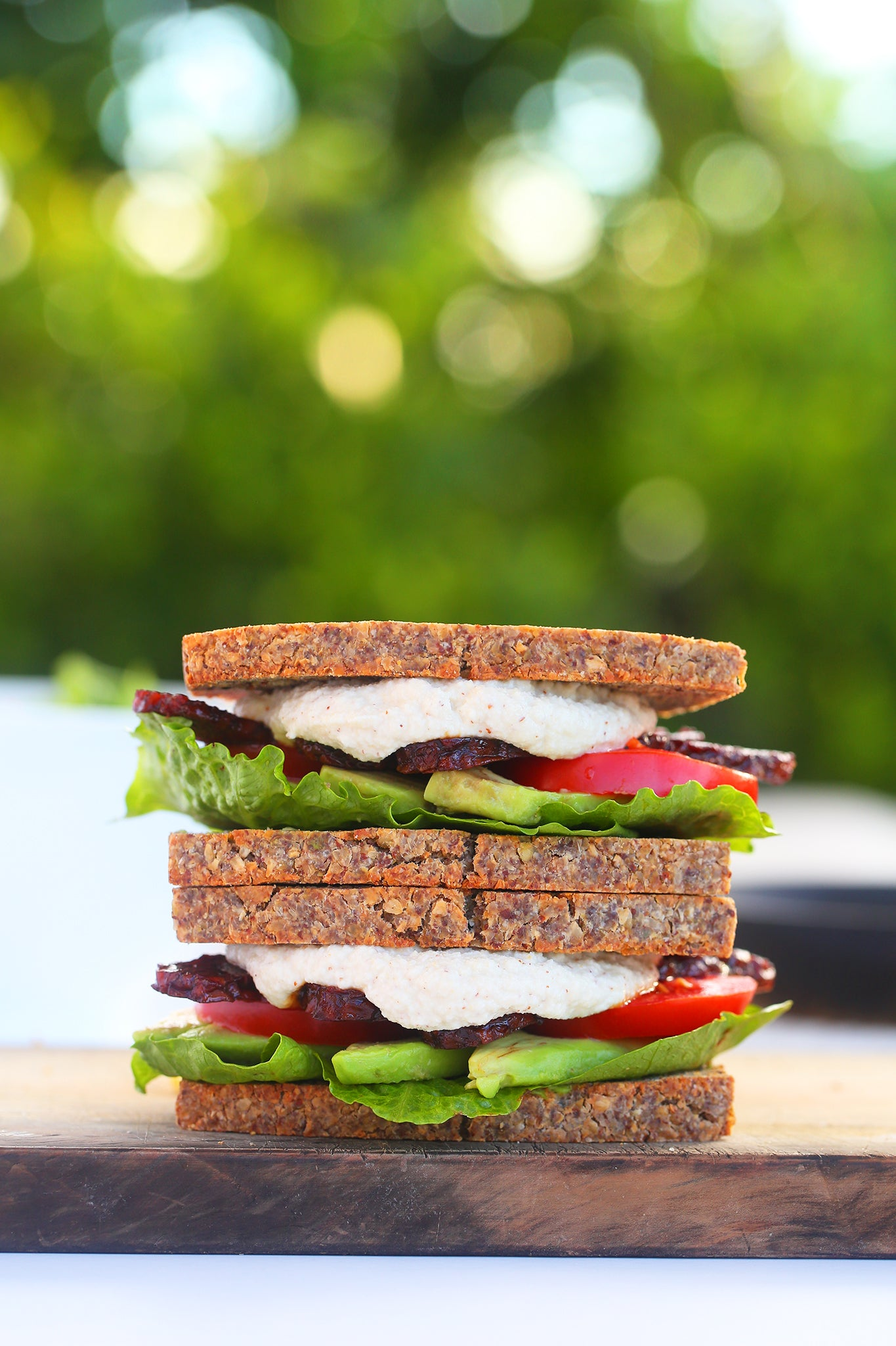 SMOKEY TEMPEH BLAT - vegan, plant based, dairy free, gluten free, natural, lunch, tempeh bacon, sweet and salty, begoodorganics