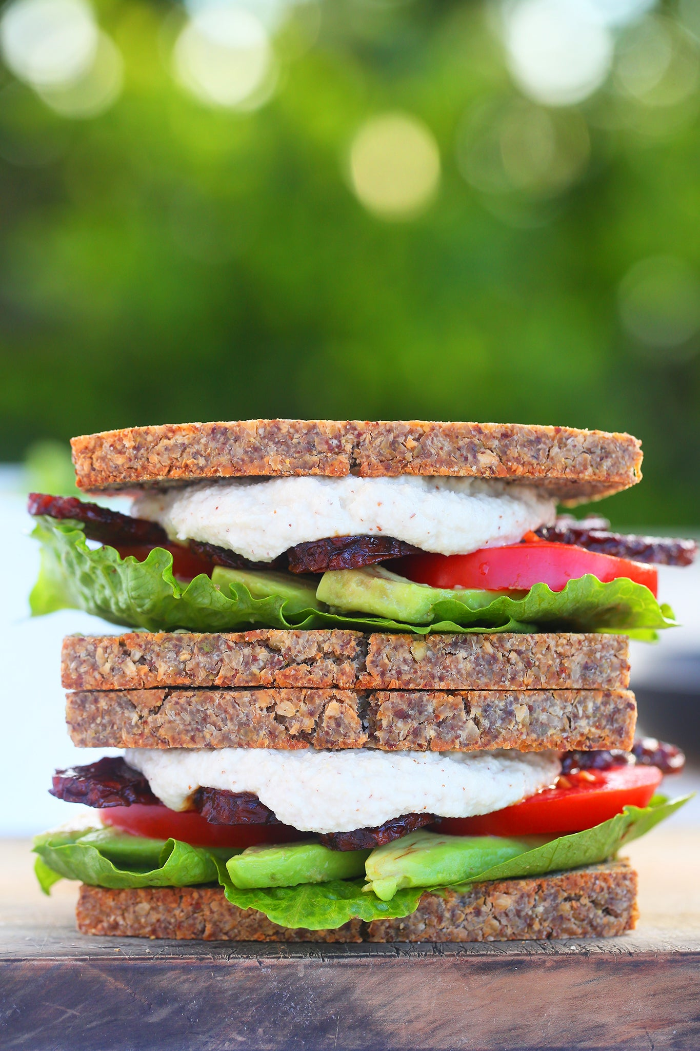 SMOKEY TEMPEH BLAT - vegan, plant based, dairy free, gluten free, natural, lunch, tempeh bacon, sweet and salty, begoodorganics 5