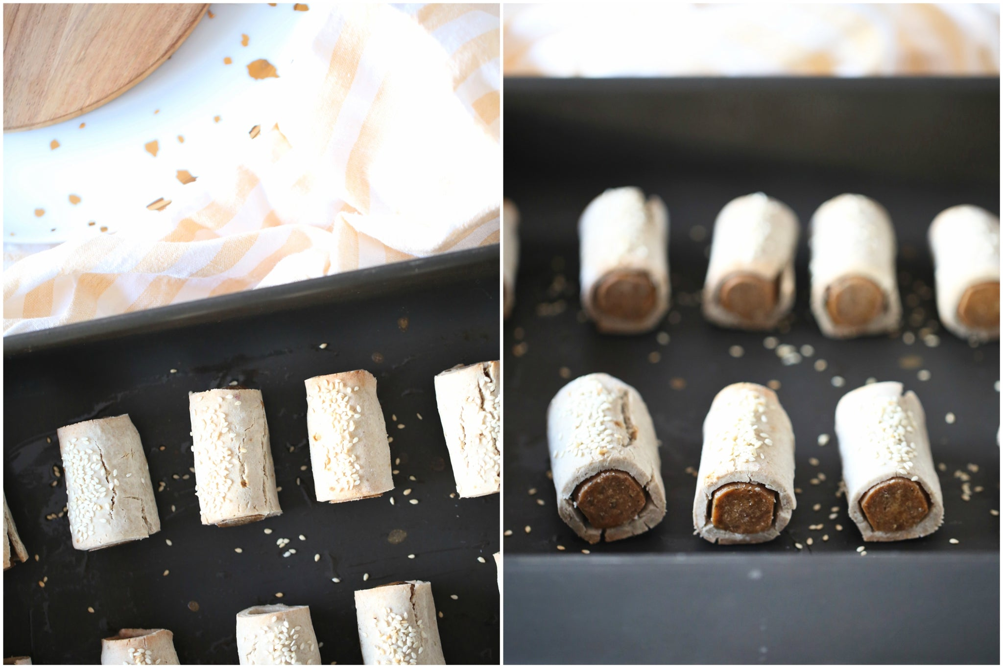 Healthy sausage rolls that are vegan and gluten free, so everyone at the party can enjoy.