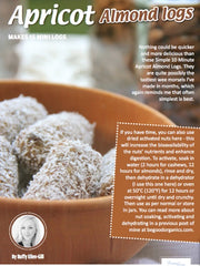 Thermie Living Magazine Apricot Almond Logs - May 2015