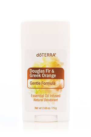 doTERRA gentle formula deodorant douglas fir and greek orange