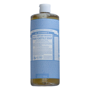 Dr. Bronner's 18-in-1 hemp baby unscented pure-castile soap 946ml