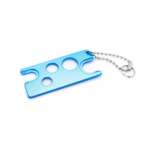 Essential oil bottle opener key metal turquoise