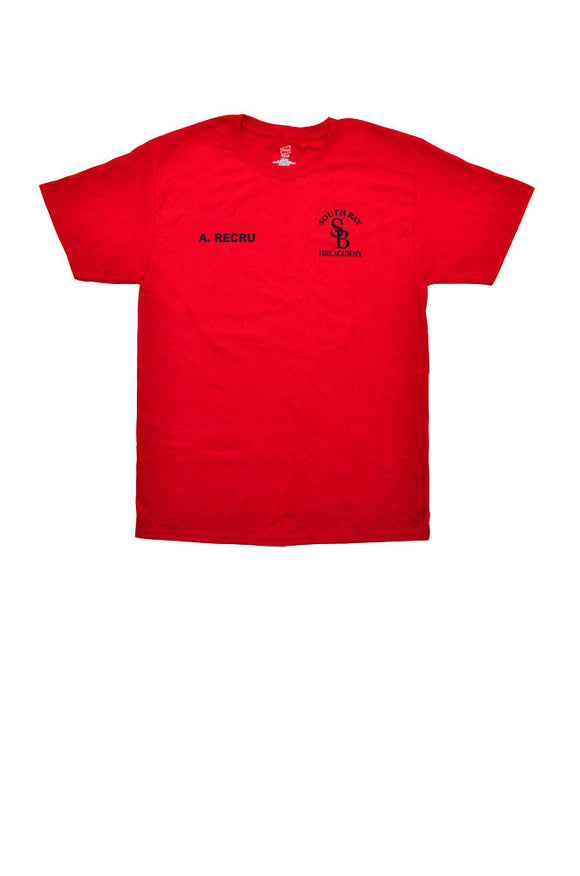Fire Academy Recruit T-Shirt Red