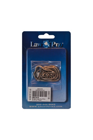 Law Pro Silver Plated Whistle Chain
