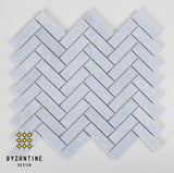 SKY BLUE HONED HERRINGBONE MOSAIC