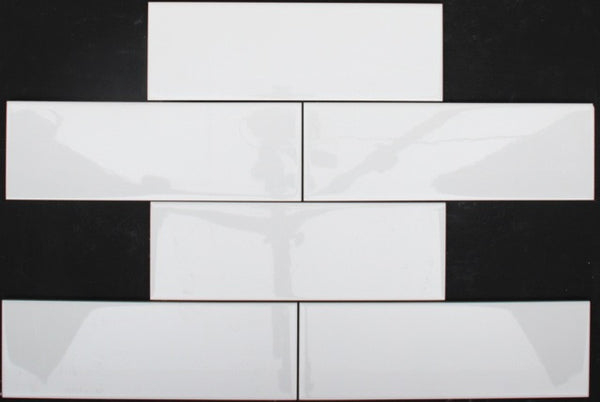 White gloss subway tile 300x100