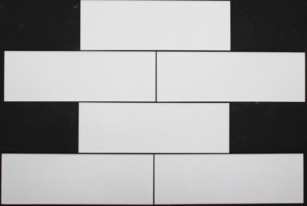 White matt subway tile 300x100