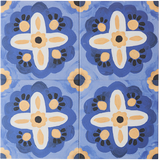 BONNIE AND NEIL AEGEAN BLUE GLAZED PORCELAIN TILE