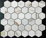 Calacatta Gold Hexagon mosaics 48x48