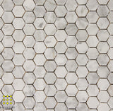 Carrara Gio Venato honed hexagon 25x25