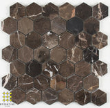 Sable brown hexagon 48x48mm