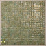 Lumineux glass mosaic Sorbet Green