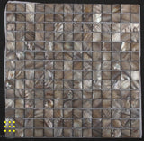 Mother of pearl silver square mosaic