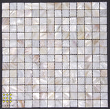 Mother of Pearl Blush square mosaic