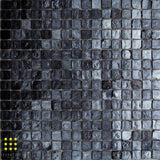 Perla Glass mosaic Nero