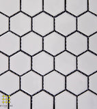 Hexagonal white matt porcelain mosaics 51mm