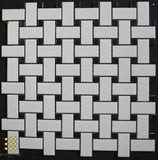 Basketweave porcelain mosaic