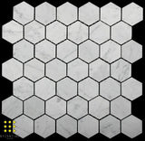 Volakas Marble honed hexagon 48