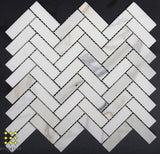 Calacatta honed herringbone